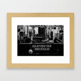 Harvester Brixham Fishing Boat Framed Art Print