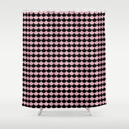 Mermaid Scales Pink Rose Gold Metallic Shower Curtain