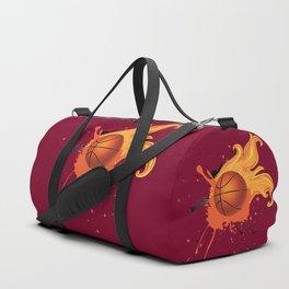 Grunge Flaming Basketball Duffle Bag