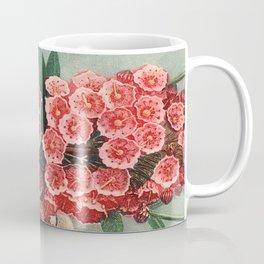 Pink Floral The Narrow-leaved Kalmia : Temple of Flora Coffee Mug