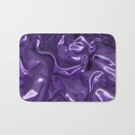 Closeup Of Rippled Purple Satin Fabric Bath Mat
