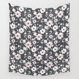 Peonia Officinalis Grey Wall Tapestry