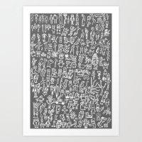 minions Art Prints featuring MINIONS by headnhalf