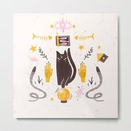 Cat Fortune Teller Metal Print