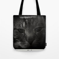 sofa Tote Bags featuring Sofa Loaf Face BW by Nearlycanadian
