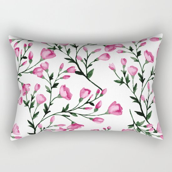 Blossoming branches Rectangular Pillow