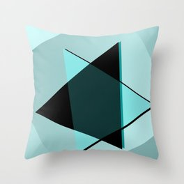 Oh blacky blue ... Throw Pillow