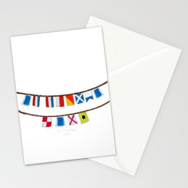 St Thomas Nautical Flags Stationery Cards