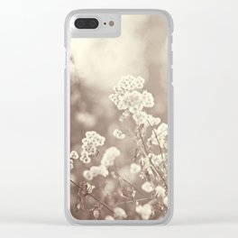 Brown Neutral Cream Nature Photography, Beige Tan Botanical Photo Clear iPhone Case