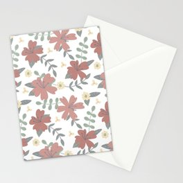 Red flower bouquet  Stationery Cards