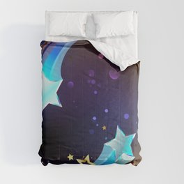 Background with Bright Comets Comforters