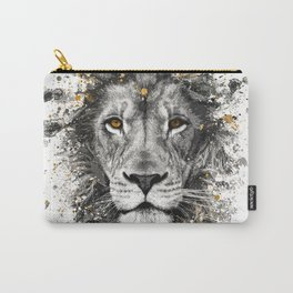 Lion with orange eyes Carry-All Pouch