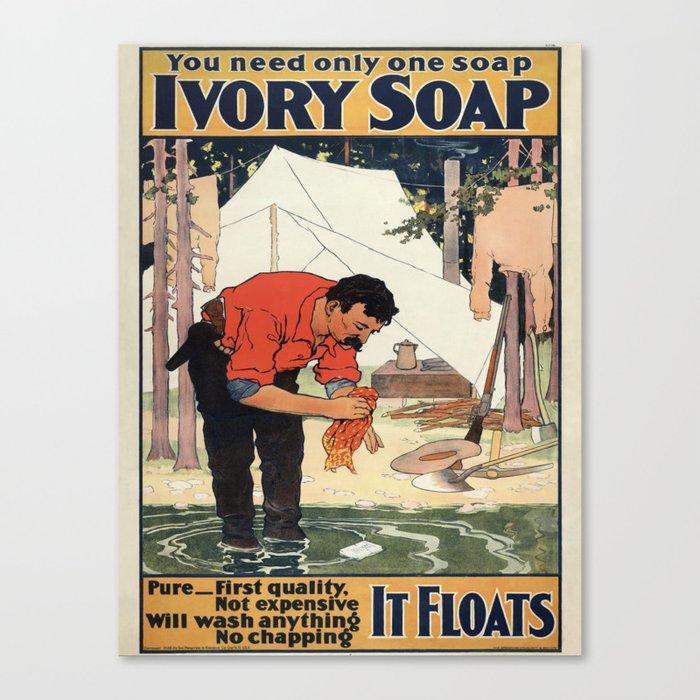 Vintage poster - Soap Leinwanddruck