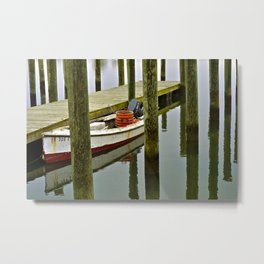 Wachapreague Dinghy Metal Print