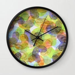 Purple Orange Green Croissants Wall Clock