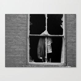 a broken window Canvas Print