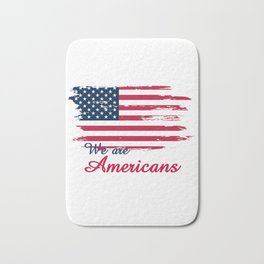 We are Americans,USA Products Bath Mat