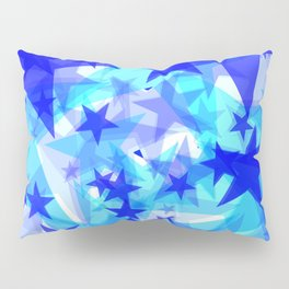 Glowing starfish on a light background in projection and with depth. Pillow Sham