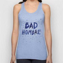 Bad Hombre Typography Watercolor Text Art Unisex Tank Top