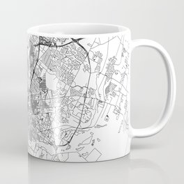 Austin White Map Coffee Mug