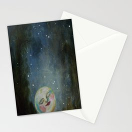 Always Kiss the Moon Goodnight  Stationery Cards