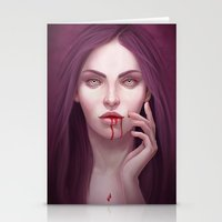 blood Stationery Cards featuring blood by melazerg