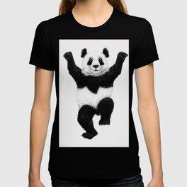 Panda Crane Technique - charcoal drawing T-shirt