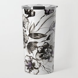 Ink Flowers Travel Mug