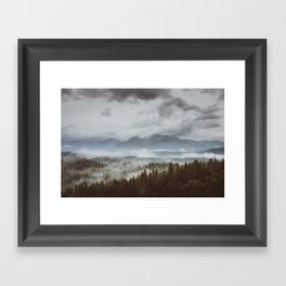 Misty mountains - Landscape and Nature Photography Framed Art Print