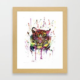 Rainbow Tiger Framed Art Print