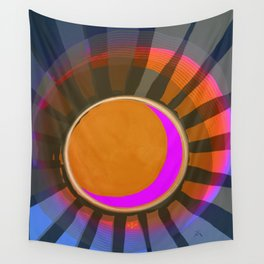 Full Moon Rays Wall Tapestry