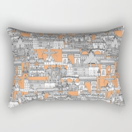 Paris toile cantaloupe Rectangular Pillow