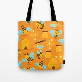 Cute Honey Bee Pattern Tote Bag