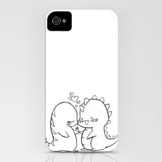 Dino Love Black and White Slim Case iPhone (4, 4s)