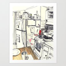 Windsor Terrace Kitchen, 2016 Art Print
