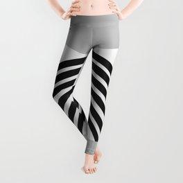 Black Gray White Sun Arch Balance #1 #minimal #abstract #art #society6 Leggings