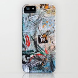 AUTUMN SHUFFLE - GUM TREE LEAVES - Original abstract painting by HSIN LIN / HSIN LIN ART iPhone Case