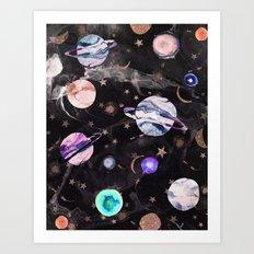 Marble Galaxy Art Print