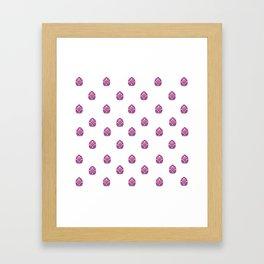 Spring - EASTER - Fuschia Eggs Framed Art Print