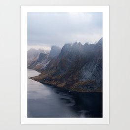 Kirkefjord, Lofoten Art Print