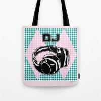 dj Tote Bags featuring DJ by Şemsa Bilge (Semsa Fashion)