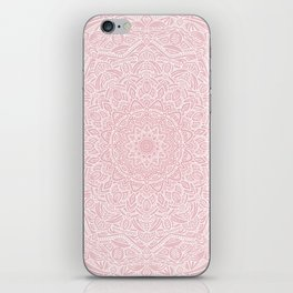 Most Detailed Mandala! Rose Gold Pink Color Intricate Detail Ethnic Mandalas Zentangle Maze Pattern iPhone Skin