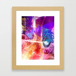 Standing in fire Framed Art Print