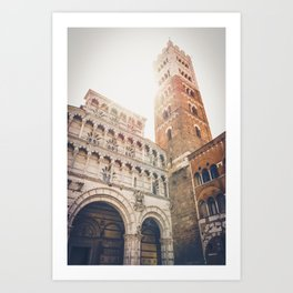 lucques Lucca cathedral san martino duomo Italy tuscany Art Print