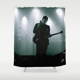 Paul Banks / Interpol at Terminal 5 New York City B&W Shower Curtain