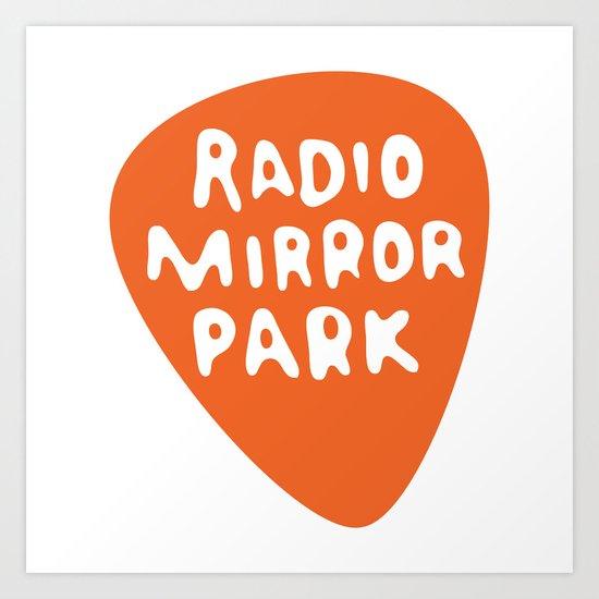 Radio Mirror Park Art Print