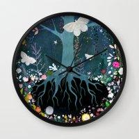 velvet underground Wall Clocks featuring Underground by Danse de Lune