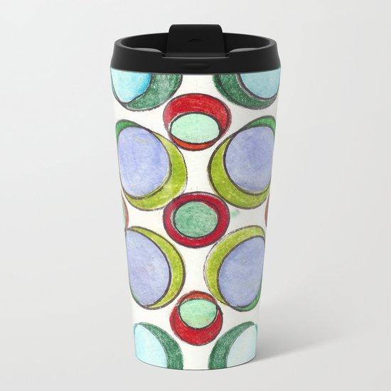 Orbicular Symmetry Metal Travel Mug