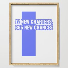 12 New Chapters, 365 New Chances Happy New Year 2020 January 1st Fireworks Resolution T-shirt Design Serving Tray
