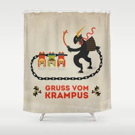 Gruss vom Krampus Shower Curtain